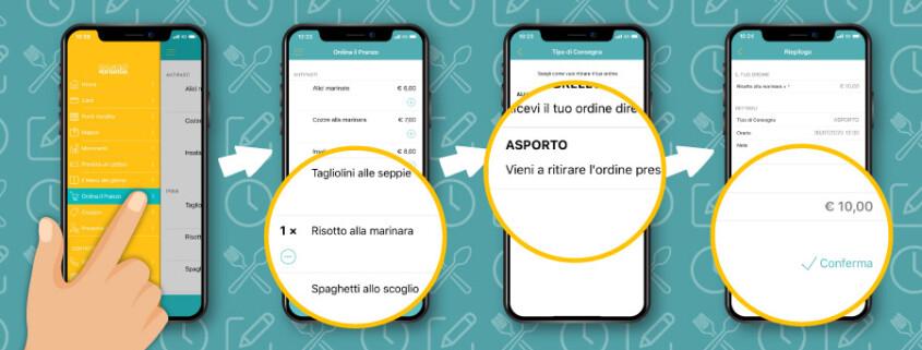 funzionamento ordinazione da FidelityApp