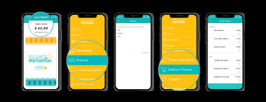 Schermate ordini e prenotazioni FidelityApp